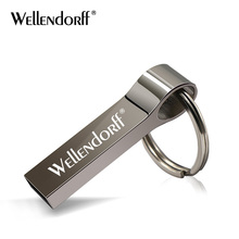 USB 2.0 key ring metal pendrive 16GB 32GB memory stick pen drive 4GB 8G real capacity 64GB usb flash drive u disk(China)