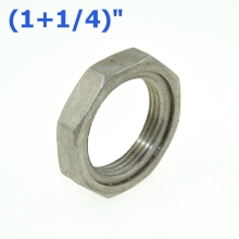 "2Pcs 1-1/4"" / DN32 Thread Nuts Metal Lock Nut 39mm Inner Dia. O-Ring Groove SS Pipe Fittings 304SS Stainless Steel"