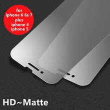 New Hot Matte Frosted Protective Anti Finger Print Front Tempered Glass Screen Protector Film For iPhone 4 4S 5 5S 6 6s 7 Plus