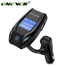 Onever Bluetooth FM Transmitter Car MP3 Player Wireless Audio Modulator Handsfree Car Kit with 3 USB Support USB/TF Flash Drive(China)