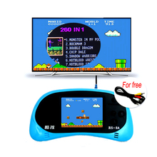 2.5 Inch 8 Bit Handheld Game Player Built-in 260 Classic Games Video Game Console English Support TV Output Children Toy Gift(China)