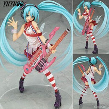 YNYNOO Hatsune Miku Action Figure scale painted figure Greatest Idol Ver. Electric Guitar Miku Doll ACGN figure Toy Brinquedos