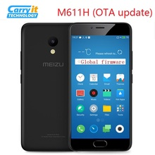 "Original Meizu M5 Mobile Phone Global Version M611H 3GB 32GB MTK MT6750 Octa Core 5.2"" 1280 x 720 13.0MP Cellular OTA"