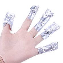 100pcs/bag Nail Cleaner Nails Gel Polish Remover Foil Wraps Manicure Nail Care Easy Use UV Gel Nail Polish Remover(China)