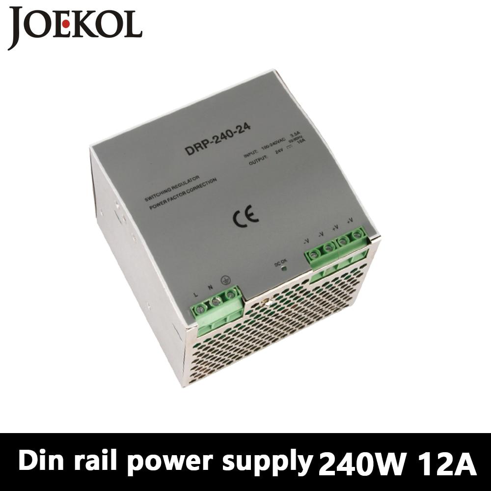 DR-240 Din Rail Power Supply 240W 12V 20A,Switching Power Supply AC 110v/220v Transformer To DC 12v,watt power supply<br>