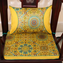 Ethnic Luxury Classic Thicken Seat Cushion for Sofa Seat Chair China style Real Silk Brocade Backrest Lumbar Pillow Back Cushion(China)
