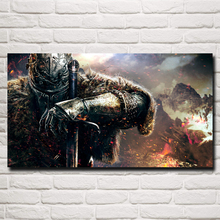 Dark Souls Warrior Sword Video Games Art Silk Poster Print Home Wall Decor Painting 11x20 16x29 20x36 Inches Free Shipping