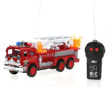 Toy Fire Truck Educational Toys Mini Fire Engine Lifts Salvation Scaling Ladder Car Toy with Original Box