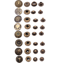 10pcs Brass Snap Fastener Press Stud Rivet 831 Type Sewing Leather Button Craft For Clothes Garment DIY Decoration Accessories