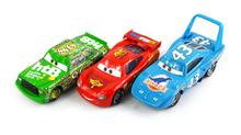 3Pcs/ Set 100% Original Cars Pixar 2 Diecast Models Vehicles Kids Toys Car Toys For Children- The King,Mcque Lightning McQueen