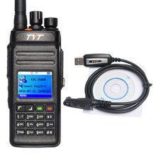 DMR Radio Digital Walkie Talkie Waterproof TYT MD398 UHF 400-470MHz 10W 1000CH Ham Radio Hf Transceiver Portable Walkie Talkie(China)