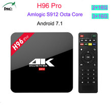 2017 H96 PRO 2/16GB 3/16GB Amlogic S912 Octa Core Smart Android TVBox Android7.1 Wifi 2.4G&5.0G 1000M LAN H96 pro set top TV BOX(China)