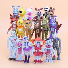 18pcs/lot FNAF Sister Location Five Nights At Freddy's Springtrap Foxy Ballora Puppet Nightmare Freddy PVC Action Figure toy