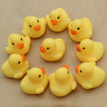 10pcs/lot Baby Water Swim Pool Bathing Duck Shape Animal Floating Soft Squeeze Sounding Best Gift Classic pool Toys