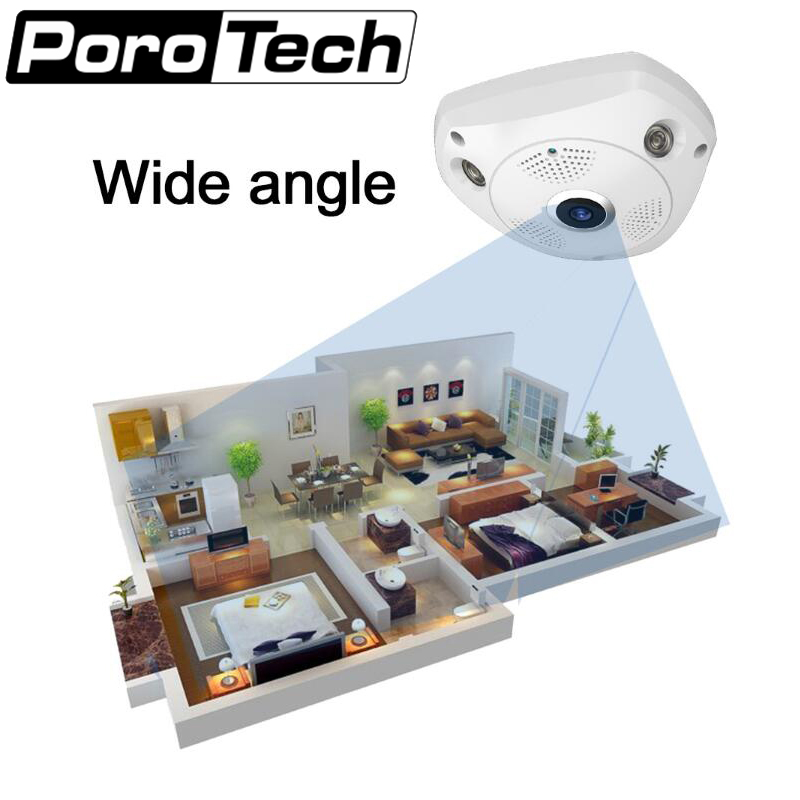 J413WD 1.3M WiFi Security Panoramic Camera HD 960P Fisheye Camera Wireless Network Surveillance camera Support Night Vision PTZ <br>
