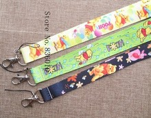 Mixed 10 Pcs Popular Cartoon Winnie  Lanyards Neck Strap Keys Camera ID Card Lanyard Mobile Phone Neck Straps S-11