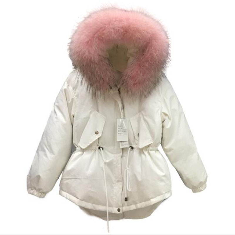 2018 new  Winter Jacket 2018 New Women Parkas Loose Plus Size Thick Big Fur Collar Hooded Cotton Padded Coat Female Clothes