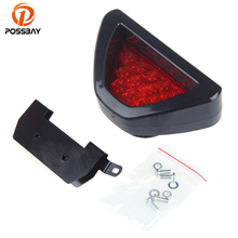 POSSBAY Car Rear Tail Light Warning Lights 12 LED Rear Bumper Reflectors Brake Stop Lamp Universal Parking Night Drive Fog Lamps(China)