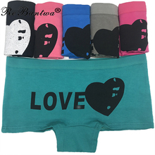 Buy Rebantwa 10pcs Ladies Knickers Women Underwear Cotton Panties Femme Boyshort Low Rise Girls Print Boxers Shorts Wholesale