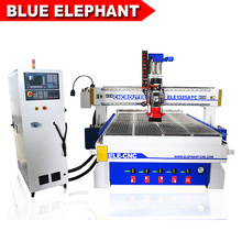 Europe Design CNC Auto Tool Change CNC Machine/9KW Italy HSD Air Cooling Spindle CNC Router/ T-slot Vacuum Table CNC Engraving(China)