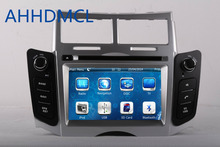 2 DIN Car Radio Audio DVD Player GPS TV SWC Silver Color For TOYOTA YARIS 2005~2011 Retail/Pc Free Shipping