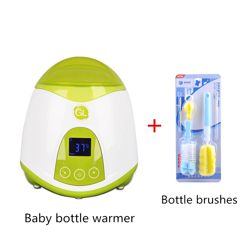 Baby Multifunction Bottle Warmer Bottle Brushes in Set Milk Warmer Food Liquid Heating Device Sterilizer LCD Thermostat BPA Free<br>
