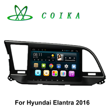 9 Touch Screen Android 5.0.1 Car Radio Receiver For Hyundai Elantra 2016 GPS Navigation RDS WIFI 3G Mirror Link OBD DVR 1080P