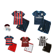 HIMIPOP 2017 Active Children Sets for Boys Summer Football Clothes Breathable Fabric Kids Soccer Suits Pullover 2PCS Top+Pant