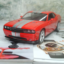 YJ 1/24 Scale Car Model Toys USA Dodge Challenger SRT Diecast Metal Car Toy New In Box For Collection/Gift/Kids