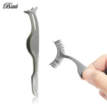 Bittb 2Pcs Beauty Eyelash Curler Mini False Eyelashes Stainless Eyelash Curlers,Tweezers Clip Makeup Cosmetic Tool Accessories(China)