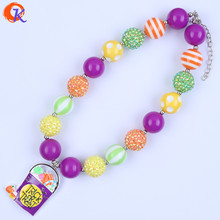Cordial Design Kids Chunky Bubblegum Necklace Trick Or Treat Bucket Pendant Necklace Halloween Jewelry For Etsy CDNL-410871(China)