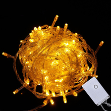 10M 100 LEDs Fairy Lights Holiday Lighting Xmas Holiday Party Outdoor Garden Tree Decoration String Lamp 220V 110V EU US Plug