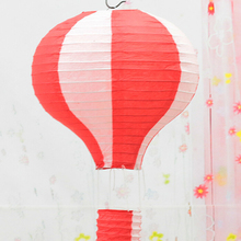 N2HAO 1PCS 12inch(30cm) Rainbow Hot Air Balloon Paper Lantern Fire Sky Lantern for Wedding/Birthday Party/Christmas Decoration(China)