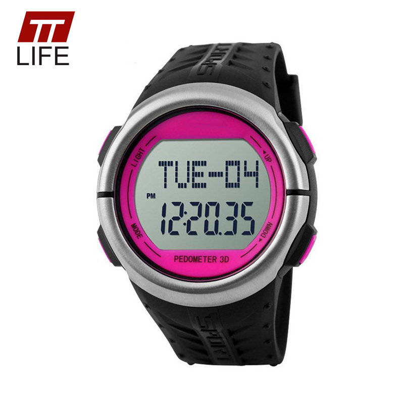 TTLIFE Brand Male Watches Digital 5ATM Waterproof 3D Pedometer Heart Rate Acrylic Dial Men Running Sports Wrist Watches for Men<br><br>Aliexpress