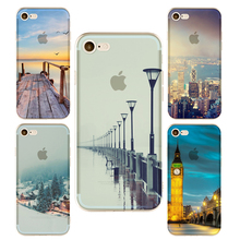 Empire Building phone Cases For Iphone 6 6s 6Plus 7 7s 7plus Soft TPU Silicon Eiffel Tower London Big Ben Phone Cover Case(China)