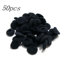 WHCYonline New Black 50pcs Soft 18mm Replacement Ear Pad Bud Foam Earbud Cover For Earphones(China)