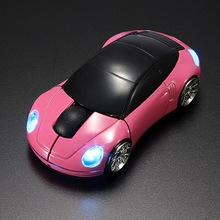 Portanble Pink LED Automobile Modeling 2.4G USB Wireless Mouse1600DPI Gaming Mouse Optical Mice 3D for PC Laptop Computer(China)