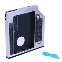 Standard SATA 13Pin 2nd HDD Hard Drive Disk Enclosure SSD Hard Drive Caddy for 12.7mm Universal CD / DVD-ROM Optical Bay