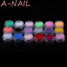 18 Color Acrylic Glitter Powder Liquid Nail Glitter Dust Gem Nail Tools Excellent UV Gel Glitter For Nail