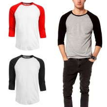 Men's Casual Fashion T-shirt Spring and Summer Casual T-shirt Five Optional