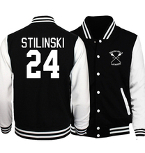 Hoodies Men Baseball Jackets 2017 Spring Autumn Wolf Teen Stilinski 24 /S.T.A.R. Labs/ Fashion Coat For Men Bomber Jacket Brand