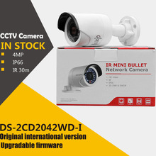 In stock original english version DS-2CD2042WD-I 4MP IR Bullet Network Camera poe IP camera