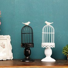 Creative Decorative Lantern Candle Holder Bird Cage Candlestick Iron Candlestick Ornaments For Home  T16 0.5