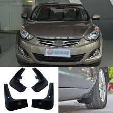 Savanini Brand New 4pcs High Quality ABS Mudguard Splash Guards Fender Mud Flaps For Hyundai Elantra(China)