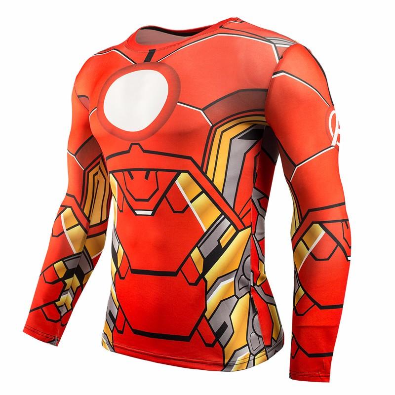 Marvel Gyms Clothing Fitness Compression Shirt Men Batman t-shirt men Long Sleeve 3D t shirt men Crossfit Tops tee shirt homme 34