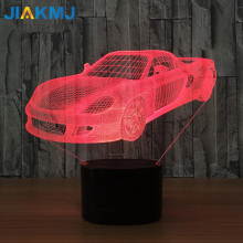 2017 new sports car 3D night light manufacturers colorful visual led desk lamp smart home decorative lights(China)