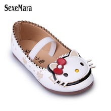 Wholesale Children Shoes for Girls Sneakers Soft Sole Kids Flats Loafers Shoes Cute Hello Kitty Princess Shoes PU Leather Lovely