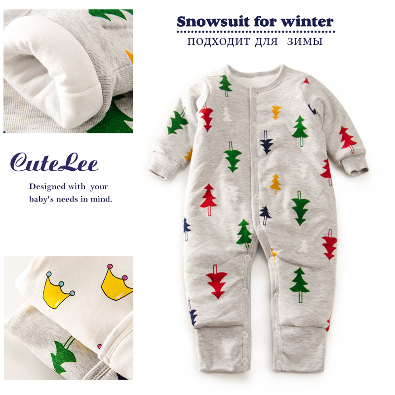 newborn winter christmas thicken cotton padded romper long sleeve next baby boy girl clothes rompers barboteuse tutine neonato<br><br>Aliexpress
