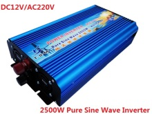digital display 5000w Peak power inverter rated power 2500W 12V DC TO 220V AC 50HZ Pure Sine Wave Inverter for home solar system