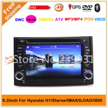 2 din Car DVD with GPS navigation for Hyundai H1 Starex with 3G usb DVD,GPS,TV,ipod,Bluetooth 4GB Free map